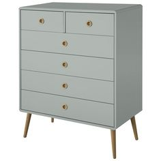 Buy Argos Home Softline Drawer Chest of Drawers - Grey at Argos. Thousands of products for same day delivery or fast store collection. Mirror Chest Of Drawers, White Chest Of Drawers, 3 Drawer Chest, Drawer Handles, Wooden Handles, White Bedside Cabinets, Grey Cupboards, Furniture Care, Bedroom Furniture