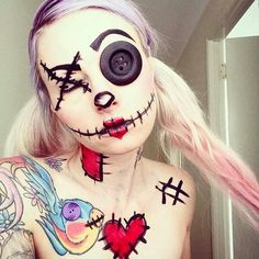 Doll face paint. #PinkPirate