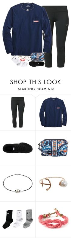 """""""ootd, running errands and shopping"""" by smbprep ❤ liked on Polyvore featuring NIKE, Vineyard Vines, Vera Bradley, Humble Chic and Kiel James Patrick"""