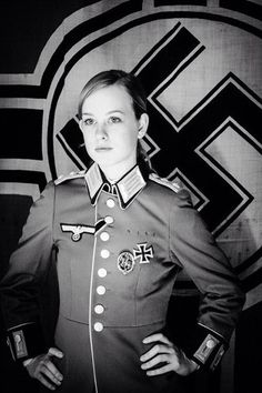 A beautiful lady in German uniform German Girls, German Women, Nazi Propaganda, World War Ii, World History, Germany Ww2, German Uniforms, The Third Reich, Rare Photos