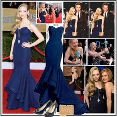 """Amanda Seyfried at the 2013 Screen Actors Guild Awards"" by robilollo on Polyvore"
