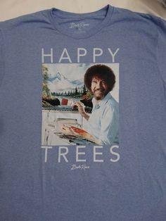Bob Ross Artist Happy Trees Joy Of Painting T-Shirt #BobRoss #GraphicTee