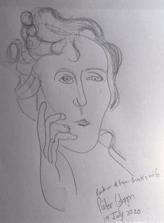 Redraw of Egon Schiele's Wife When She Was Busy Dying During the Spanish Flu Pandemic 1918 Flu, Spanish, Pencil, Sketches, Drawings, Spanish Language, Doodles, Spain, Sketch