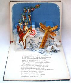 Past Print: Rudolph the red-nosed reindeer pop-up book / 1939