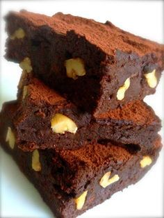 Brownie com Biomassa de Banana Verde