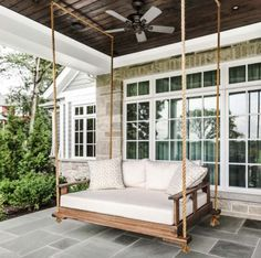 27 Absolutely fabulous outdoor swing beds for summertime enjoyment Farmhouse Style Decorating, Outdoor Living Space, Home, Porch Swing, Outdoor Decor, Relaxation Room, Farmhouse Porch, Patio Furniture, Porch Design