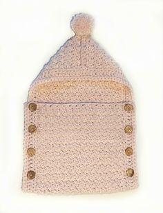 Easy Baby Sleeping Bag Crochet pattern by Deborah O'Leary Crochet Cowl Free Pattern, Easy Crochet Patterns, Baby Sack, Crochet Fall, Crochet Flower, Universal Yarn, Super Bulky Yarn, Christmas Knitting Patterns, Plymouth Yarn
