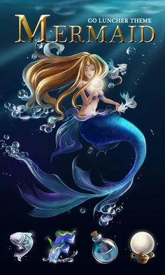 Mermaid  GO Launcher Theme- screenshot