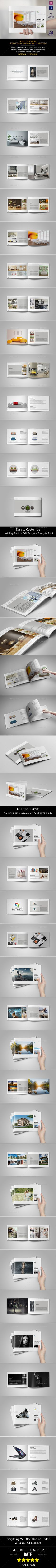 Live Preview On ISSUU Multipurpose Catalogs / Brochure / Portfolio Template This is 28 page minimal brochure template is for desig