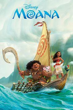 Moana Boat Maxi Poster