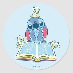 Customizable Sticker made by Zazzle Paper. Personalize it with photos & text or shop existing designs! Lilo And Stitch Tattoo, Lilo E Stitch, Cute Disney, Disney Art, Disney Stuff, Reading Wallpaper, Disney Fabric, Ugly Duckling, Cute Cartoon Wallpapers