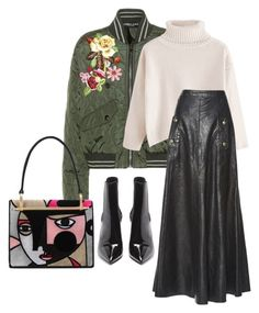 """bomber jacket + skirt"" by selukeyho on Polyvore featuring Dolce&Gabbana, Chloé, Prada and Yves Saint Laurent"
