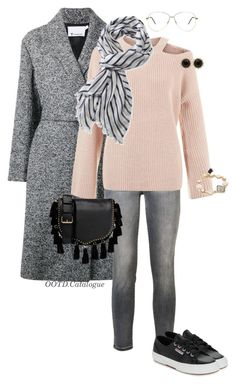 """""""Monochrome"""" by ootd-catalogue on Polyvore featuring Mode, Alexander Wang, Current/Elliott, Superga, L.L.Bean, Rebecca Minkoff, Gucci und Kate Spade"""