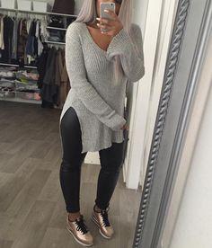 Women outfit Nike cortez