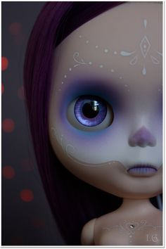 Custom Blythe Dia De Los Muertos (Day of the Dead) by Sirenita