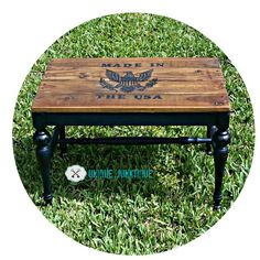 Patriotic Bench Vintage Rescue With Pallet Wood