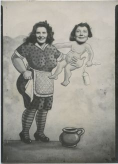 PHOTO BOOTH/ARCADE. WOMEN AS MOTHER, DAUGHTER IN CUT OUT.   eBay