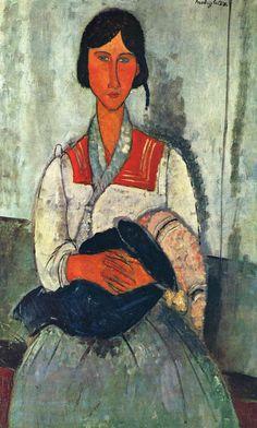 Gypsy Woman and Child. . Modigliani