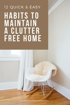 12 quick & easy habits to maintain a clutter-free home: Decluttering is an important part of simplifying your home and life. But equally important is establishing habits and routines to maintain your decluttering efforts in the long term. Learn the 12 simple habits I use to keep our home tidy and clutter-free with minimal time and effort required! #declutter #decluttering #declutteringtips #clutterfree #homemanagement #howtodeclutter Declutter Your Home, Organizing Your Home, Organizing Ideas, Home Organization, Minimalist Lifestyle, Minimalist Living, Minimalist Decor, Decluttering Ideas Feeling Overwhelmed, Clutter Solutions