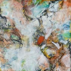 """""""Dancing Rhythms, 12"""" x 12"""" abstract , encaustic painting on cradled board. No framing necessary, was $500, now $250 buy now at www,ezshwan.com, Sale Store"""