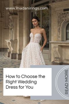 One of the most exciting as well as daunting parts of getting married is choosing your dress. For many brides, this is the moment that you've been dreaming of your entire life. However, the reality of the situation is sometimes a bit more difficult and time-consuming than fantasy. You have several factors to consider when it's time to pick your dress. Read more on our blog. #MADANIRings #WeddingPlanning #MensMeddingBand Wedding Costs, Wedding Advice, Wedding Planning, Spring Wedding, Wedding Day, Choose The Right, Mermaid Gown, Basic Style, Traditional Wedding