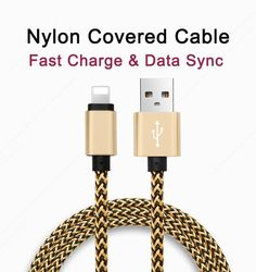 1M Braided USB Cable for iPhone 5 5s for iPhone 6 6S Plus SE iPad 4 Pro Air iphon 5 mobile phone cable Data Sync Charger