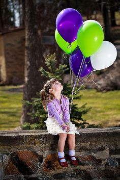 Children, Balloons - Jill Samter Photography