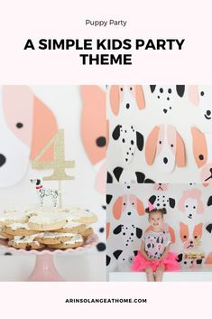 Avé's Pink Puppy Birthday Planning a birthday party for your little girl? Check out this post to see the inspiration for this little pink puppy birthday party, and see how simple details can make for a perfect party! Puppy Birthday Parties, 2nd Birthday Party Themes, Birthday Party Outfits, Kids Party Themes, Party Ideas, Birthday Recipes, 9th Birthday, Birthday Ideas, Little Doll