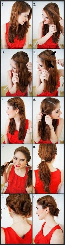 What do you like about this updo? #allaboutupdos #hairtutorials When would you wear this best?