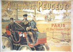 Peugeot French Car Poster