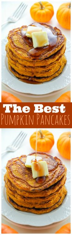 YUM! These are seriously the best Pumpkin Pancakes of your life! Click through to check out the secret ingredient.