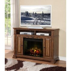 An elegant traditional appearance makes the Legends Furniture Barclay 60 in. Electric Media Fireplace a wonderful centerpiece to your bedroom or living. Entertainment Center Wall Unit, Entertainment Furniture, Home Entertainment, Media Fireplace, Fireplace Console, Fireplace Ideas, Walmart Decor, Legends Furniture, Legend Homes
