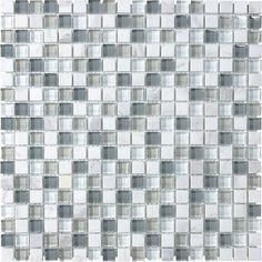 5/8-inch x 5/8-inch Glass Blend Tile in Moonstone