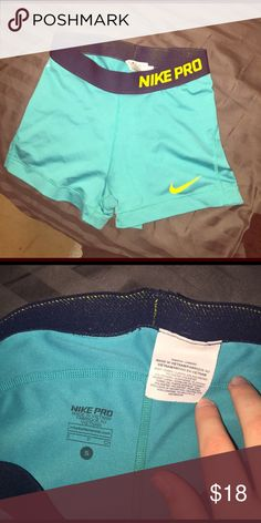 PRICE REDUCED!! 💛 Nike pro compression shorts Gently worn Nike Shorts