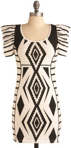 Modcloth, Gregarious Geometry Dress SIZE XS