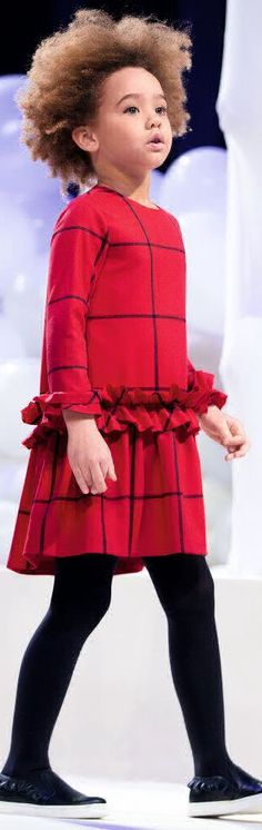 SALE !!! IL GUFO Girls Designer Red Checked Ruffle Party Dress. Seen on the Runway at Pitti Bimbo Kids Fashion Week in Italy. Classic Party Dress for Girls Designed by the Popular Il Gufo Kids Italian Fashion House.  #kidsfashion #fashionkids #girlsdresses #childrensclothing #girlsclothes #girlsclothing #girlsfashion #cute #girl #kids #fashion