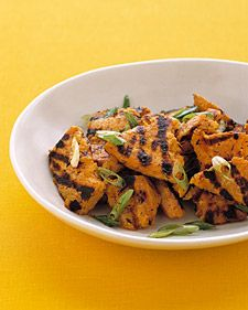 grilled sweet potatoes...leave out butter for a healthy side!