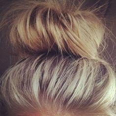 Top knot bun :)