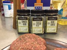 #YIAH burgers Tbsp of each blend to 1kg of beef mince (ground beef) also added a dash of caramelised balsamic.