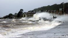 The tail-end of ex-hurricane Katia meant a stormy sea at Largs, Scotland.  Known in Glasgow and the west as Hurricane Bawbag  #bawbag
