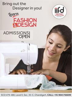 Bring out the designer in you!  Learn Fashion Design.  Admission open in IIFD. Fill online application form @ www.iifd.in  #iifd #chandigarh #best #fashion #designing #institute #chandigarh #mohali #punjab #design #admission