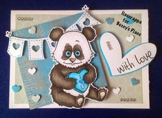 Beccy's Place - Wild About You Set Digital Image, Valentines Day, Places, Cute, Animals, Pandas, Valentine's Day Diy, Animales, Animaux