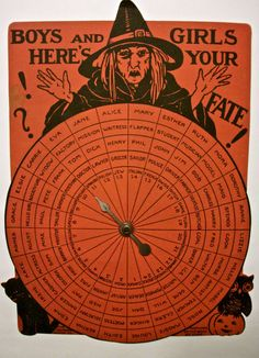 HALLOWEEN WITCH SPIN GAME 1930'S