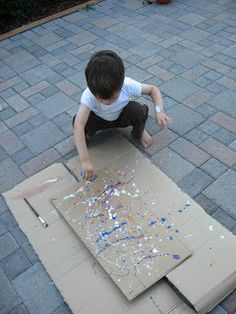 Jackson Pollock Painting {and tips for the museum} - No Time For Flash Cards