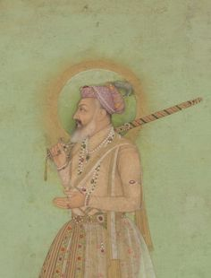 The Elderly Shah Jahan. From the Late Shah Jahan Album; India, Mughal dynasty, ca. 1650 Opaque watercolor and gold on paper. Purchase—Smithsonian Unrestricted Trust Funds, Smithsonian Collections Acquisition Program, and Dr. Arthur M. Sackler; Arthur M. Sackler Gallery S1986.405