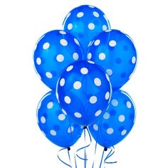 Navy with White Polka Dot 11 Latex Balloons 6 count Adult ** Visit the image link more details.