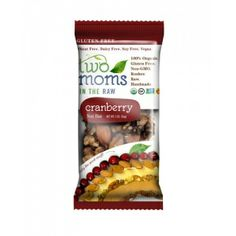 Two Moms In The Raw - Gluten Free Organic Cranberry Nut Bar