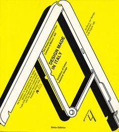 """Cover book for Catalogue of Prize """"XIV Premio Compasso d'Oro"""" 1987."""