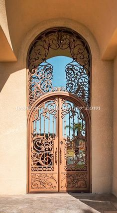 Did you know our doors are handcrafted from the finest materials on Earth? 💡 About this design: Custom Iron Door w/Transom ☎️️ 877-205-9418 🌐 www.iwantthatdoor.com Wrought Iron Doors, Earth, Design, Wrought Iron Gates, Mother Goddess, World, The World