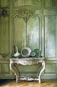 #Veranda. #green #interiors #interior_design